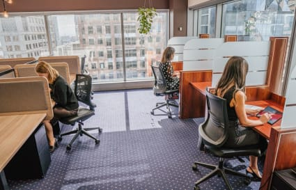 Collaborative external  workspace for 4 people in Melbourne's most prestigious building