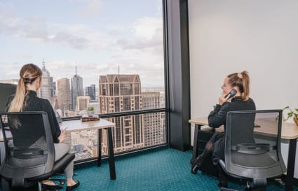 A-grade furnished external private workspace for 2 people in the centre of Melbourne's CBD