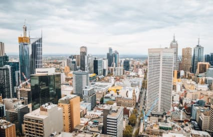 A-grade furnished external private workspace for 4 people in the centre of Melbourne's CBD