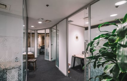 Collaborative 4-person workspace located in Brisbane CBD's Financial Precinct