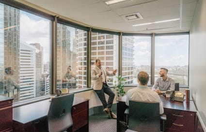 Executive fully furnished 5-Person internal office in Brisbane CBD