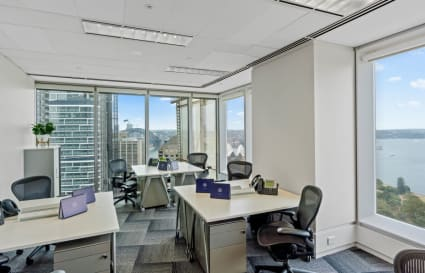4-Desk Private Corner Office with City Views
