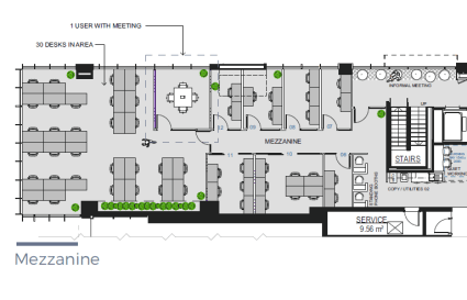 Private and exclusive Mezzanine floor for up to 36