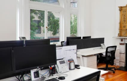 Light filled private office in a stunning heritage building with private meeting room