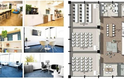 x2 self contained floors for 130 desks