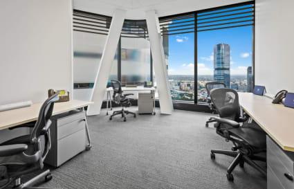 4 Person private office with City view