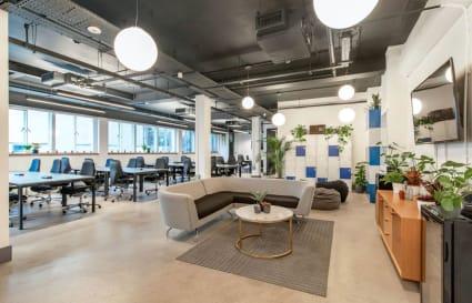 70 Person private office in