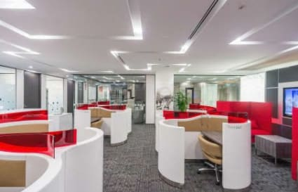 Multiple connected offices for up to 9 people with great views