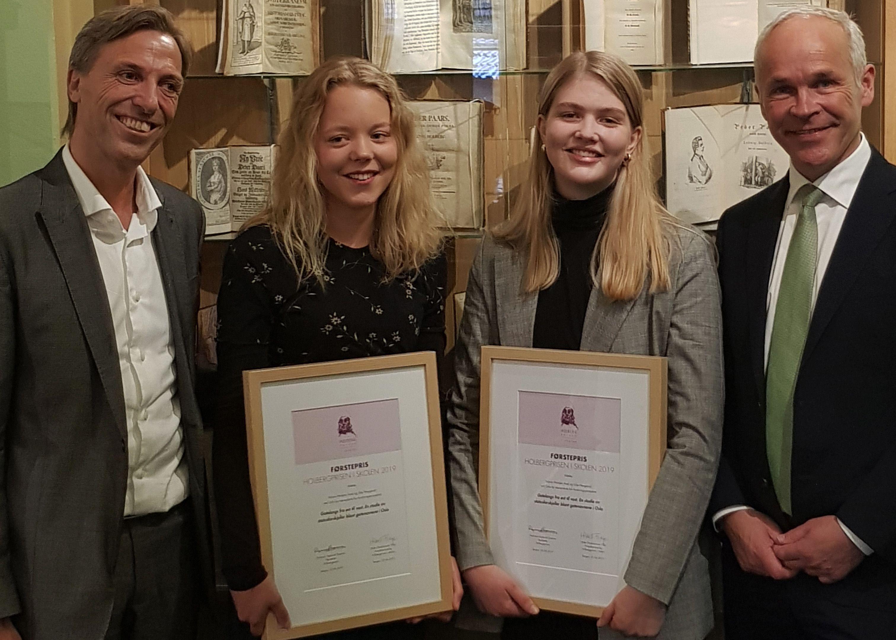 Vinner av Holbergprisen i skolen 2019, besøkte Vg3 studiespes.