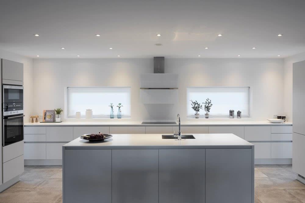 LED-belyst kjøkkenøy