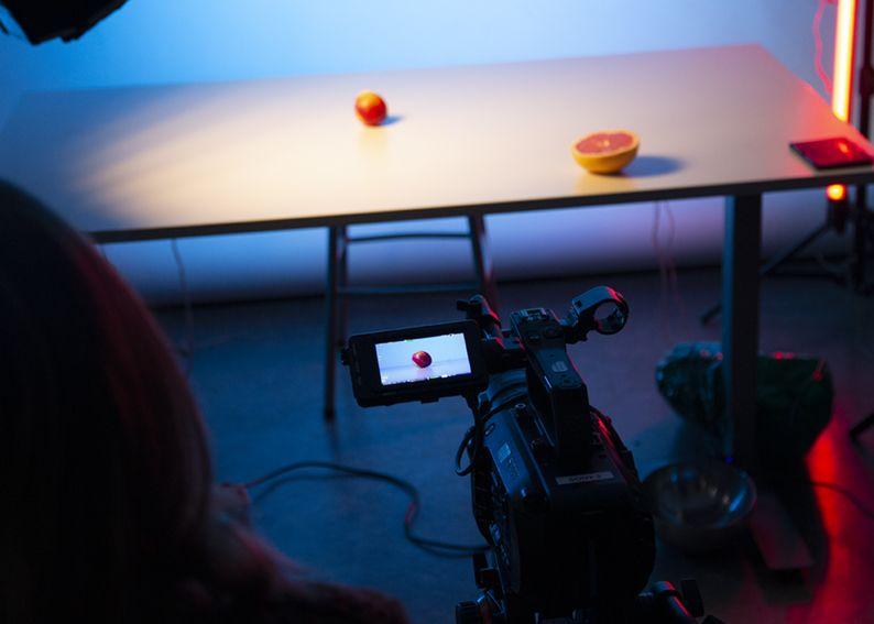 Fra filmingen av en grapefrukt