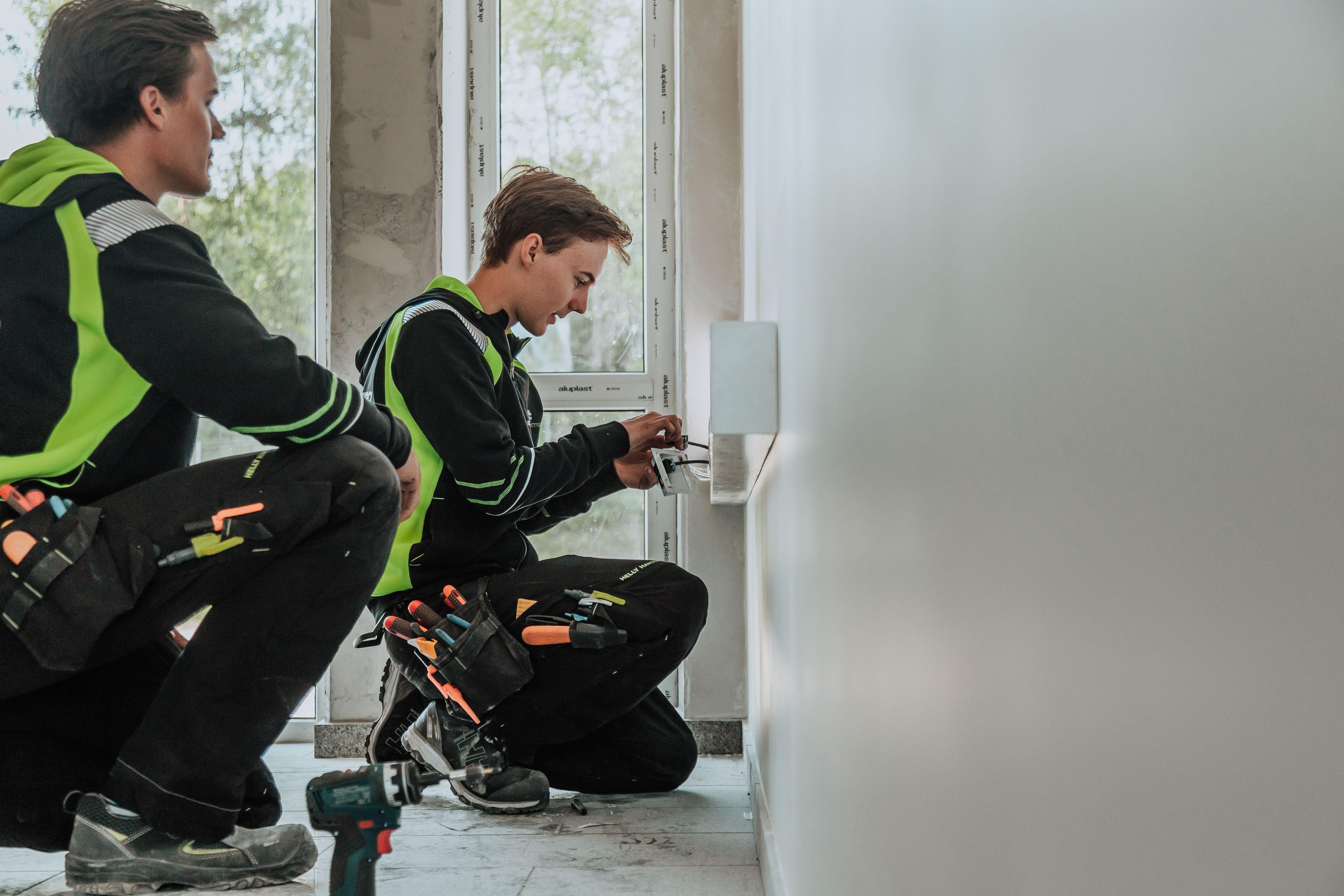elektriker på hjemmebesøk