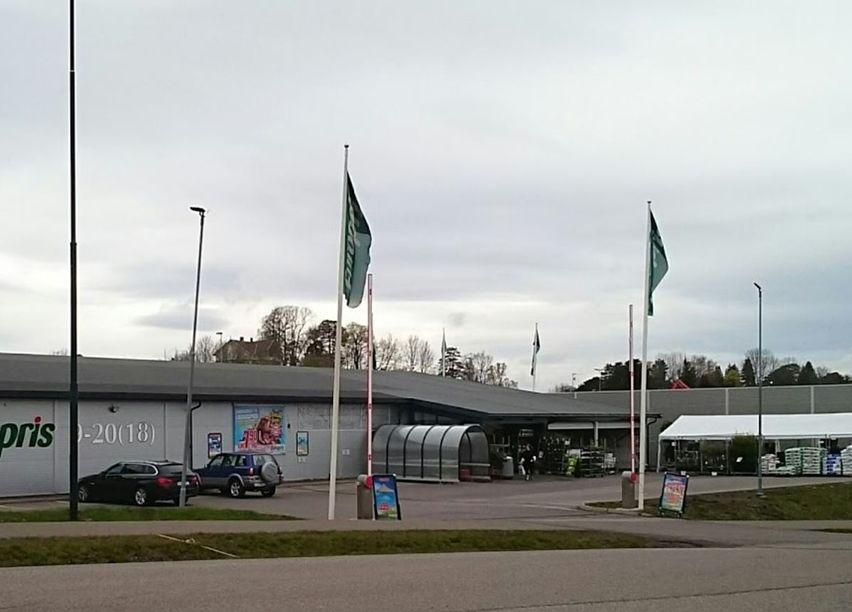Bilde av en Europrisbutikk, overskyet vær.