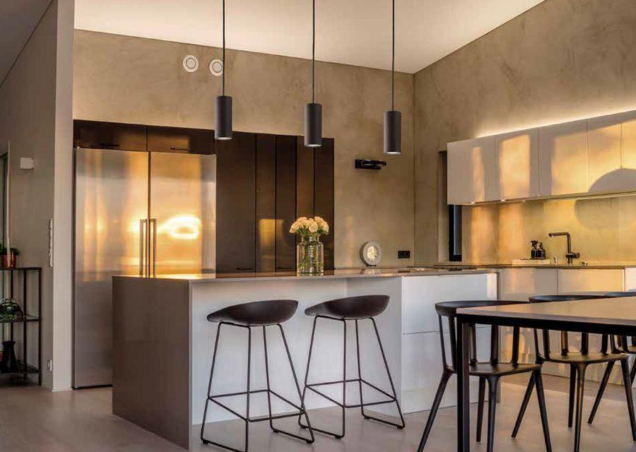 Kjøkkenkrok med pendellamper
