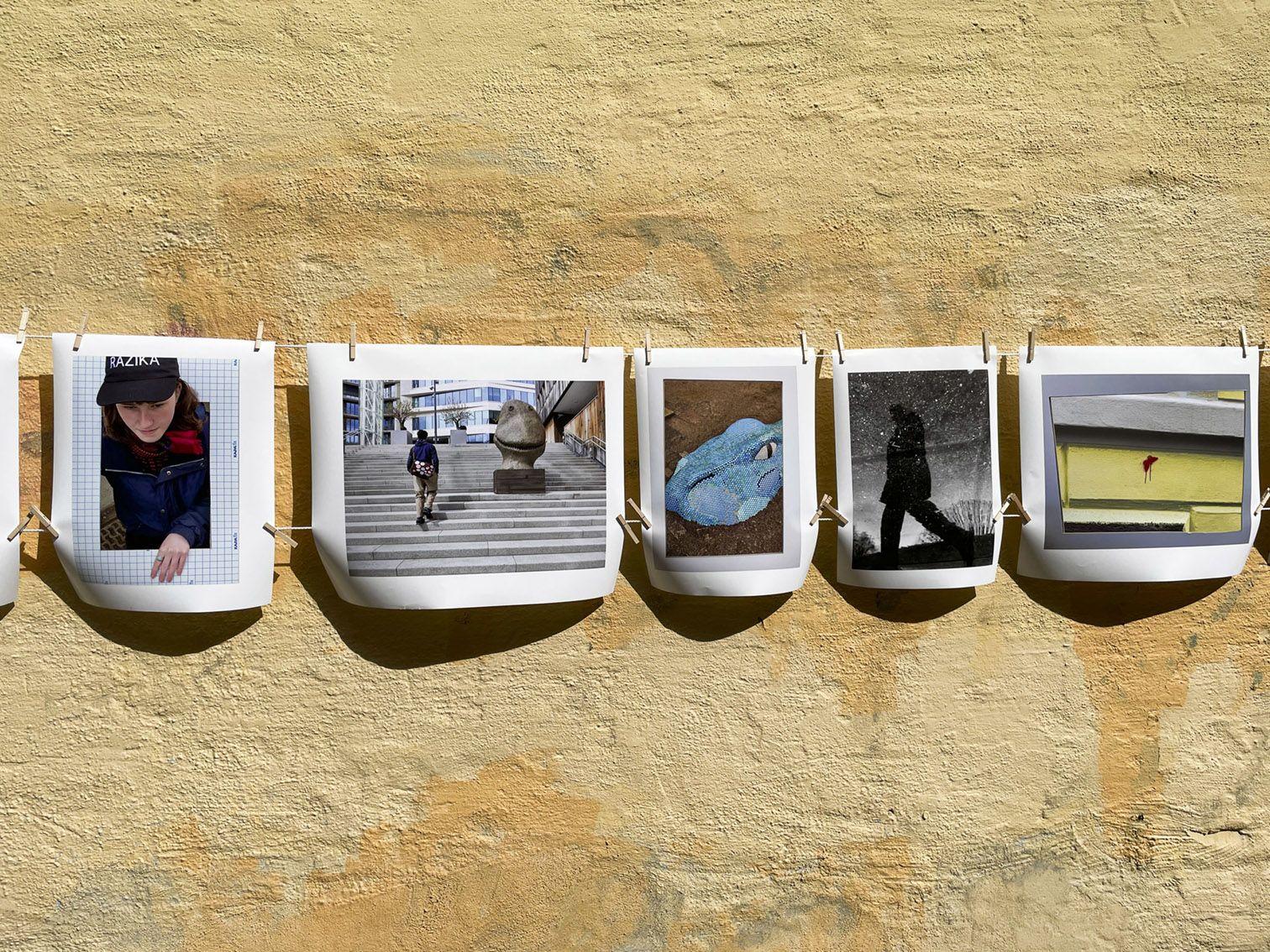 Pop-opp galleri på parkeringsplassen