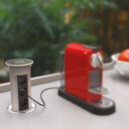 VersaElite el-søyle - 3 stikk + 2 USB