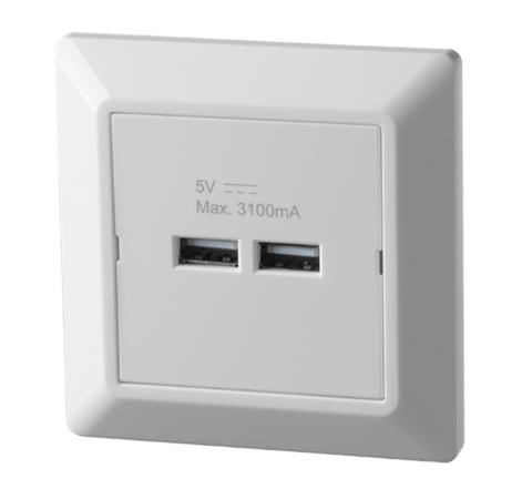 USB-lader Betek Sort