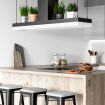 hvis man har kjøkkenøy monteres komfyrvakten på viften over platetoppen, eller i taket