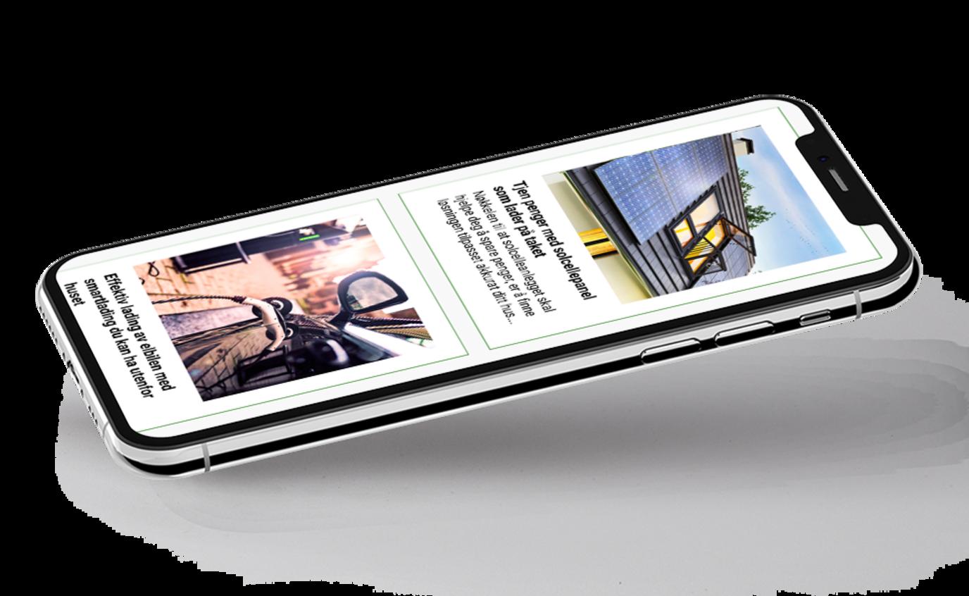 Nettbutikk i mobil