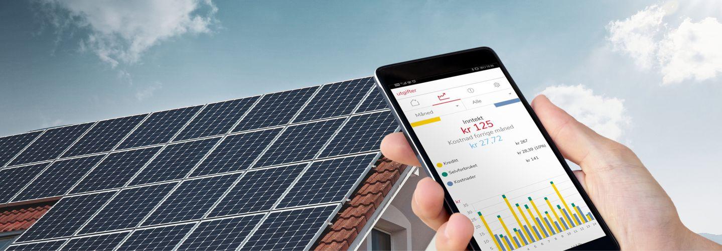 Solceller med appen ELKO Energy.