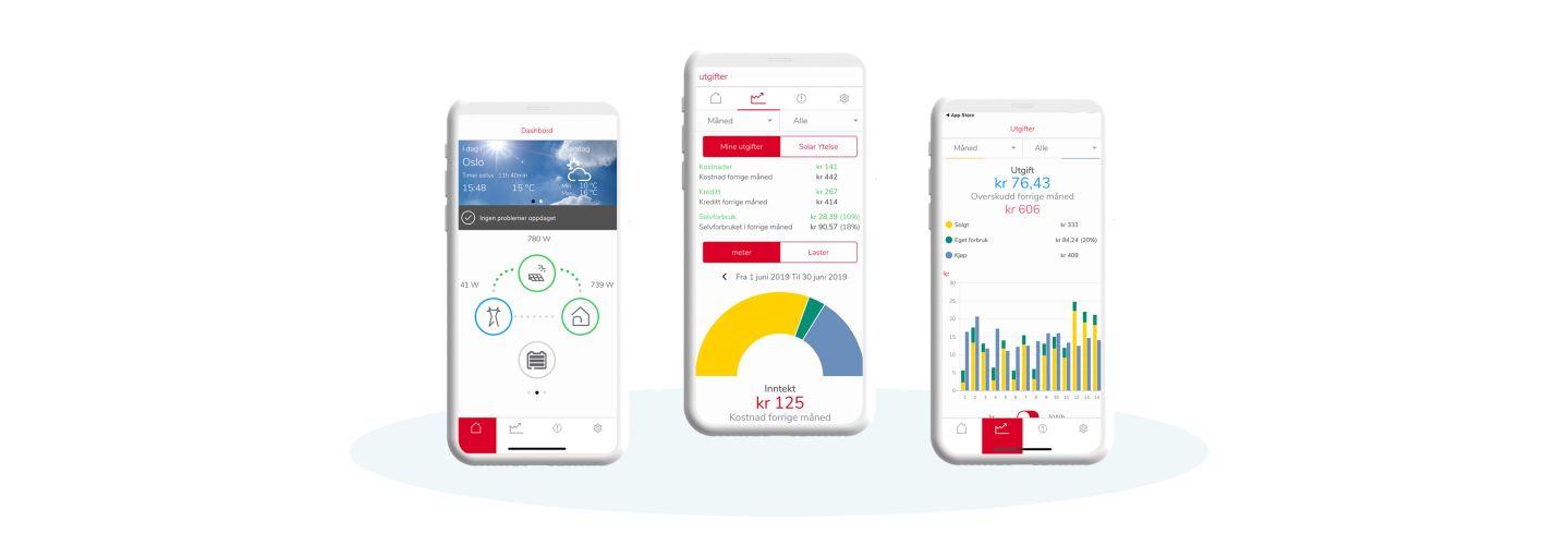 Elko Energy-appen gir oversikt over forbruket.
