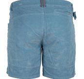 7 incher concord shorts garment dyed fra amundsen sports til herre. i fargen arona blue. produktbildet viser shortsen sett bakfra