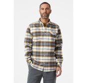 Classic Check Shirt fra Helly Hansen til herre i fargen Slate. Produktbildet viser skjorten på herremodell sett forfra