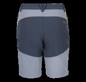Womens Vipe Shorts i fargen Eventide/Vintage Indigo/Blazing Orange fra Tufte Wear. Produktbildet viser shortsen sett bakfra