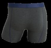 Boxhershorts fra TufteWear til herre i fargen Forest Melange/Dress Blues. Produktbildet viser boxeren sett bakfra