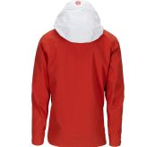 Drifter Jacket fra Amundsen Sports til herre i fargen red clay. Bildet viser jakken sett fra baksiden med hetten ute