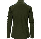 5mila half zip fra Amunsen Sports til dame i fargen rifle green. Produktbildet viser genseren sett bakfra