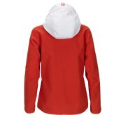 Drifter Jacket fra Amundsen Sports til dame i fargen red clay. Bildet viser jakken sett fra baksiden med hetten ute