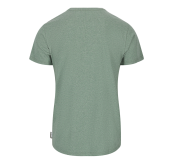 Mens Eco Green City Tee Green/Light Grey/Sky Captain fra Tufte Wear. Bildet viser tskjorten sett bakfra