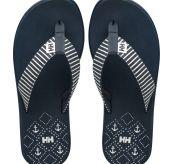 W Iris Sandal fra Helly Hansen i fargen navy. Produktbildet viser et par sandaler sett ovenifra