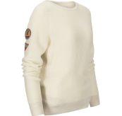 Drifter Sweater til dame fra Amundsen Sports i fargen oatmeal. Produktbildet viser genseren sett skrått forfra