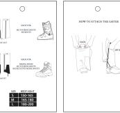 Instruksjoner på hvordan feste gaiters fra Amundsen