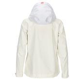Drifter Jacket fra Amundsen Sports til dame i fargen offwhite. Bildet viser jakken sett fra baksiden med hetten ute