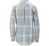 Skauen Field Shirt fra Amundsen Sports i fargen Arona Blue til dame. Produktbildet viser skjorten sett bakfra