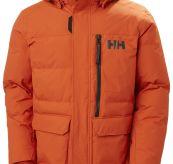 Tromsoe Jacket fra Helly Hansen til herre i fargen patrol orange. Produktbilde sett forfra