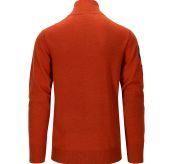 Amundsen Peak Half zip genser fra Amundsen Sports til herre, i fargen Iron Rust. Produktbildet viser genseren sett bakfra