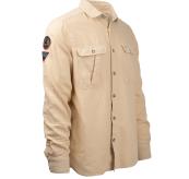 safari flanel shirt herre fra amundsen sports beige produktbilde sett skrått forfra