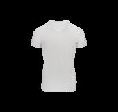 Mens v-neck t-shirt til herre fra Tufte Wear i fargen Bright White. Produktbildet viser tskjorten sett forfra