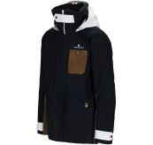 Deck Jacket fra Amundsen Sports til herre i fargen faded navy. Produktbildet viser jakken sett skrått forfra