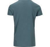 Summer Wool Tee Garment Dyed tskjorte fra Amundsen Sports til herre i fargen faded blu. Produktbildet viser tskjorten sett fra baksiden