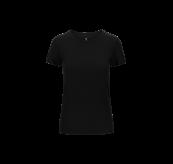 Crew Neck T-shirt til dame fra Tufte Wear i fargen Blac. Produktbildet viser tskjorten sett forfra
