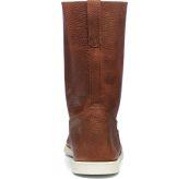 hankø boots fra sebago. brunt skinn, produktbilde sett bakfra