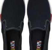 Copenhagen slipon sko fra Helly Hansen i blå kanvas