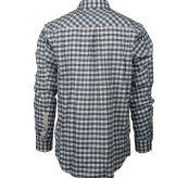 Amundsen Flannel Shirt til herre fra Amundsen Sports. Fargen Chequered Blue. Produktbildet viser skjorten sett bakfra