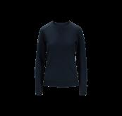 Womens Lunde Sweater i fargen Sky Captain. Produktbildet viser genseren sett forfra