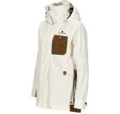 Deck Jacket fra Amundsen Sports til dame i fargen Offwhite. Produktbildet viser jakken sett skrått forfra